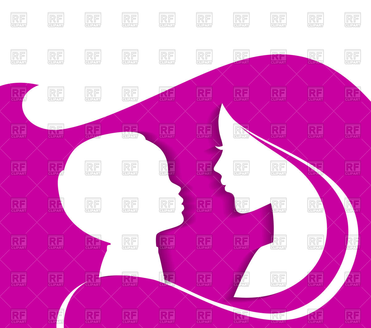 1200x1062 Silhouette Of Mother And Child Vector Image Vector Artwork Of