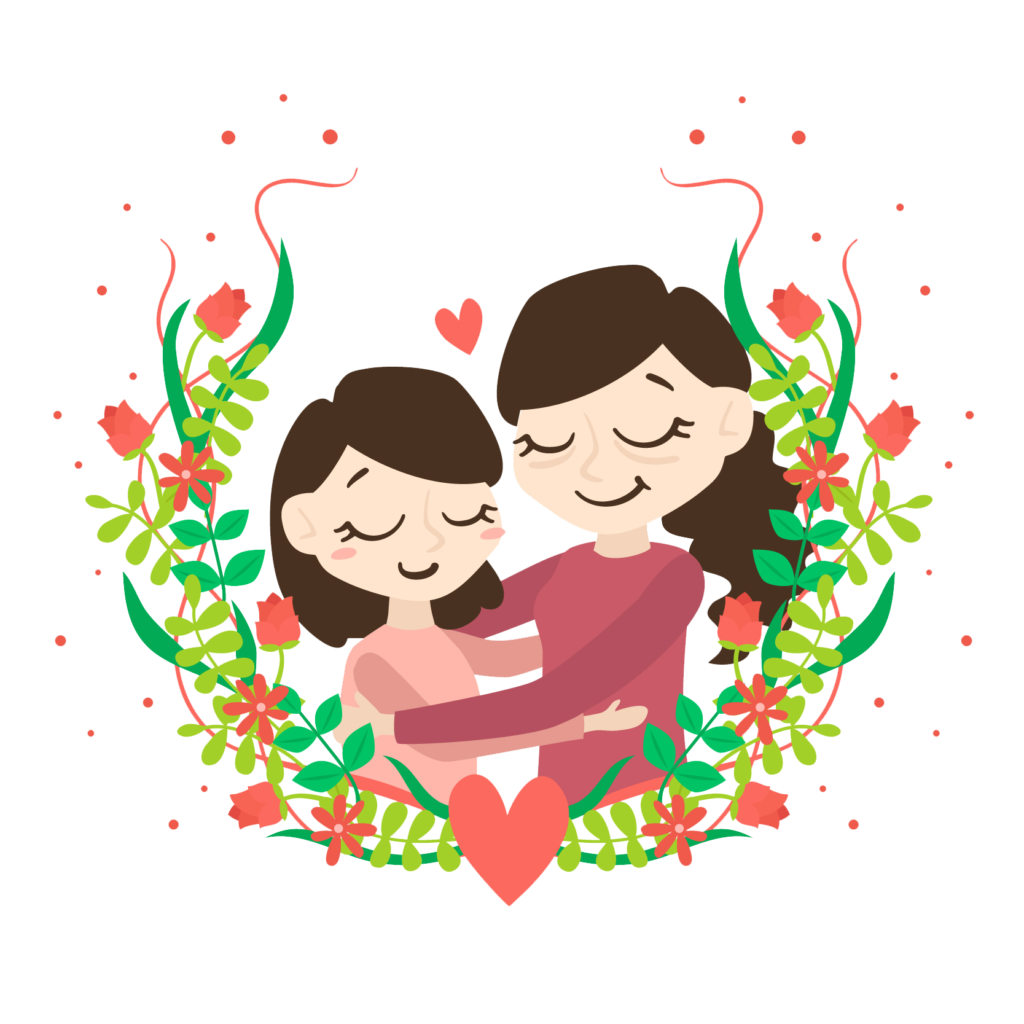 1024x1024 Download Mothers Day Mother And Child Free Png And Vector