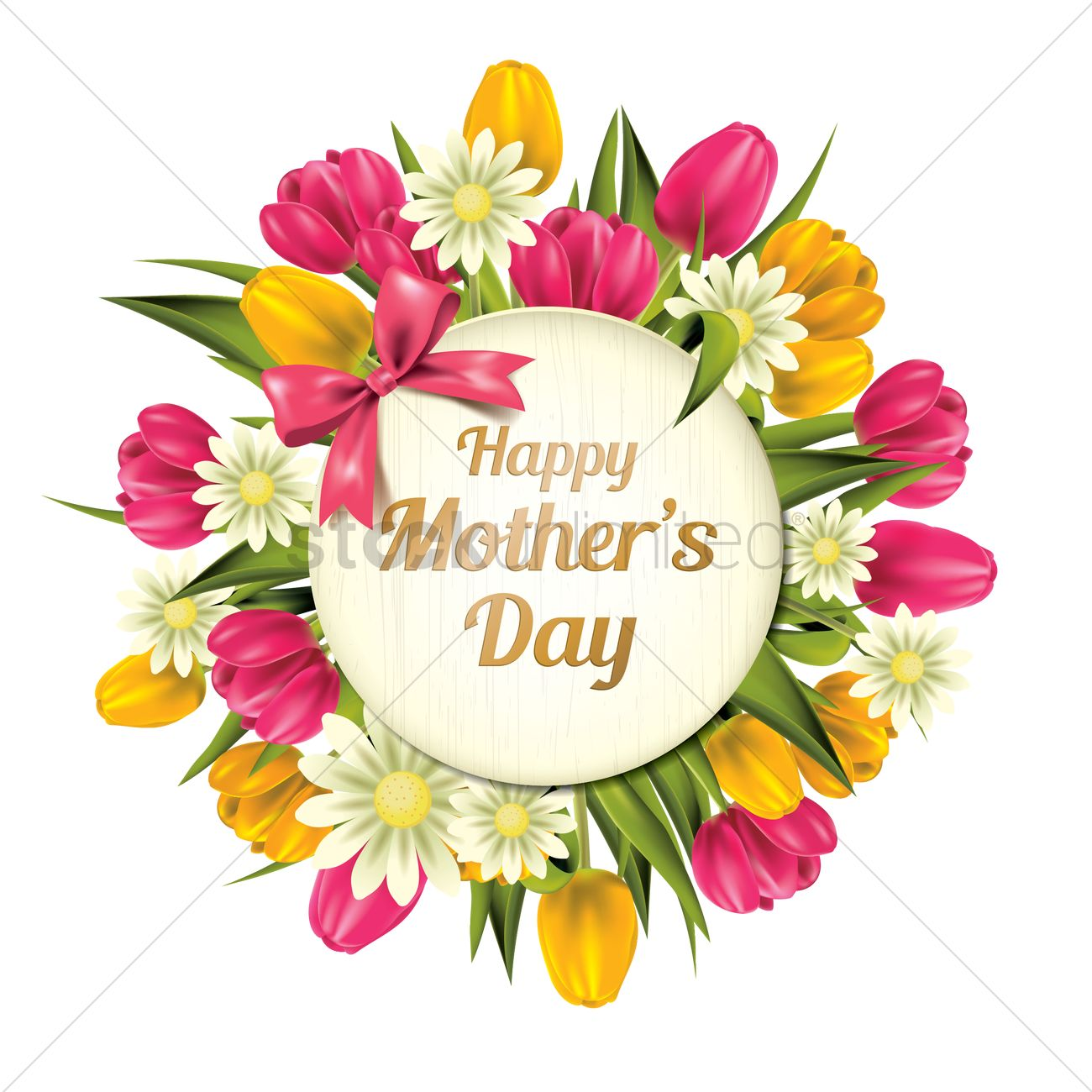 1300x1300 Happy Mothers Day Vector Image