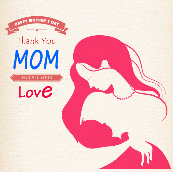 600x599 Mom Hold Baby Happy Mother Day Free Vector In Adobe Illustrator Ai