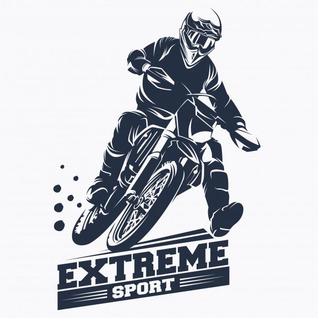 626x626 Moto Track Or Motocross Jump Logo Vector Vector Premium Download