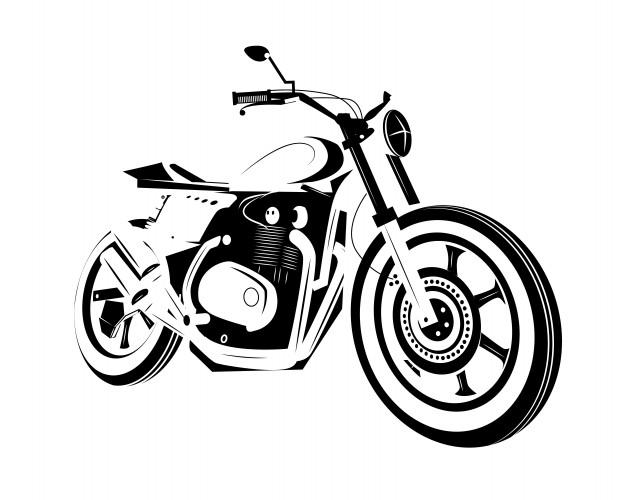 626x500 Moto Bike Icon. Cafe Racer. Vector Premium Download