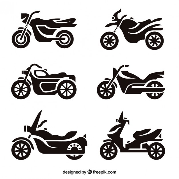 626x626 Motorcycle Silhouettes Vector Free Download