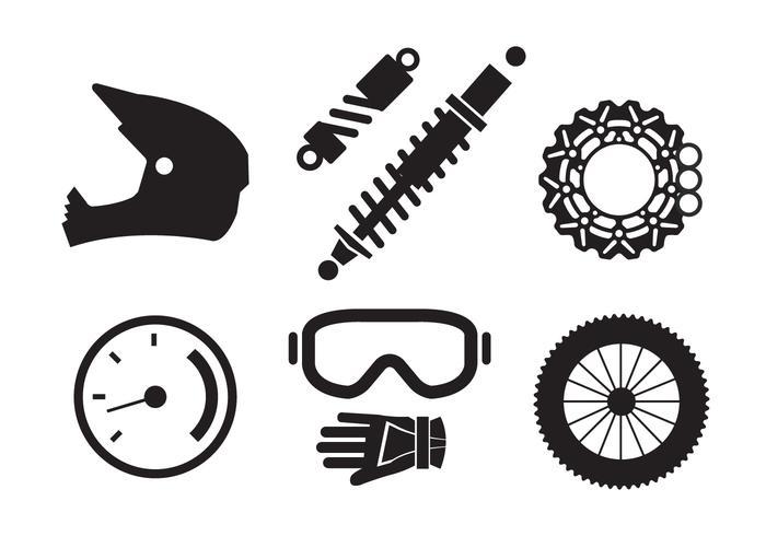 700x490 Vector Set Of Motorcycle Elements