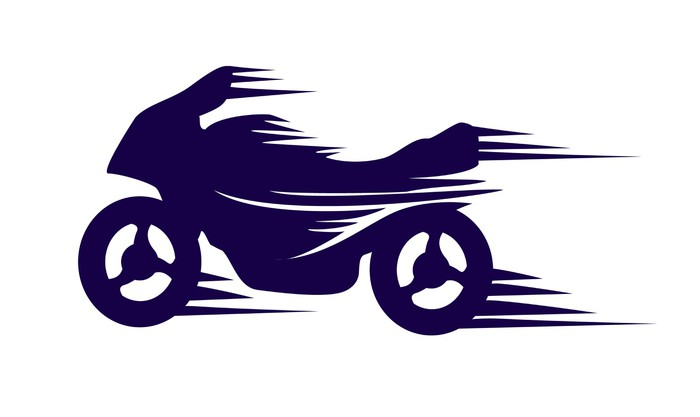 700x417 Motorbike With Speed Effect Vector Wall Mural We Live