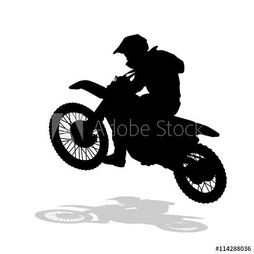 500x500 Motocross Vector Silhouette. Motocross Jump. Moto Racing