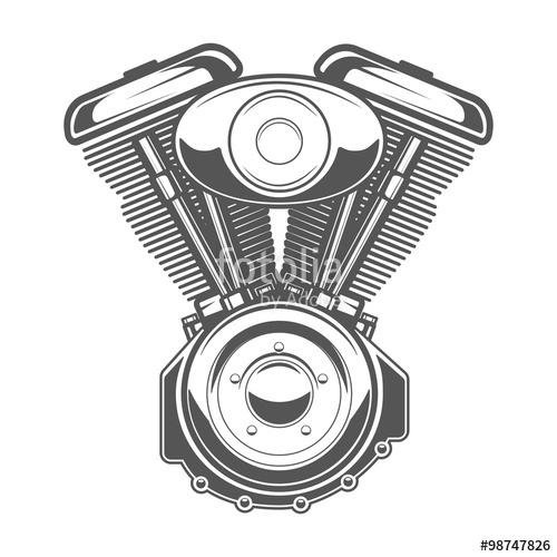 500x500 Motorcycle Engine Emblem, Vintage Motorcycle Labels Stock Image