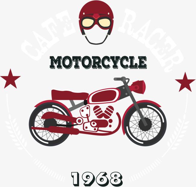650x620 Retro Motorcycle Logo, Retro Vector, Motorcycle Vector, Logo