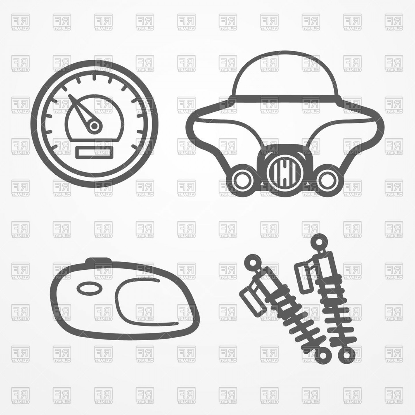 Motorcycle Parts Vector