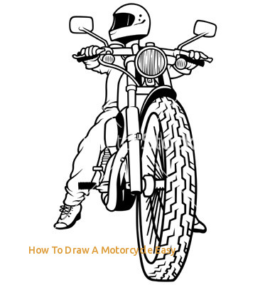 380x400 How To Draw A Motorcycle Easy 15 Back View Motorcycle Rider Vector