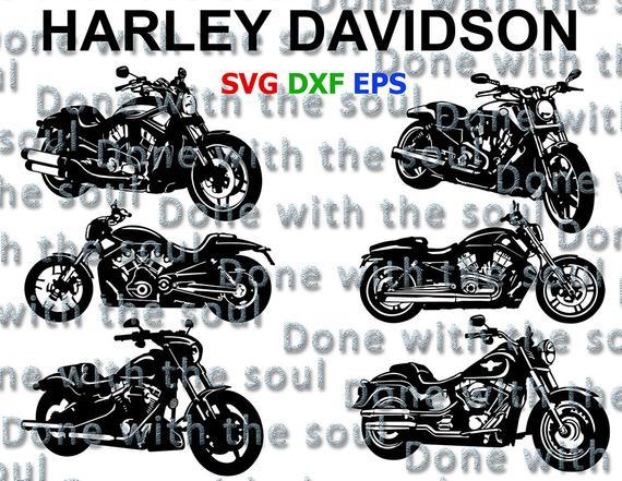 570x441 Harley Davidson Vector Motorcycle Cut Motorcycle Vector Etsy