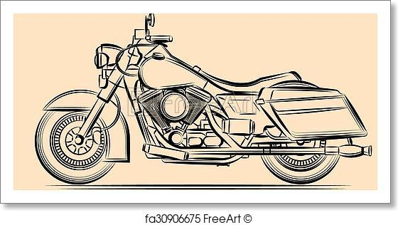 560x316 Free Art Print Of Motorcycle Vector Art. Moto Freeart Fa30906675