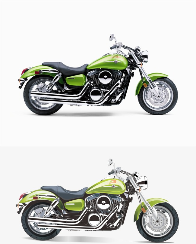 650x812 Cool Motorcycle Vector Material Downloaded,, Cool Vector