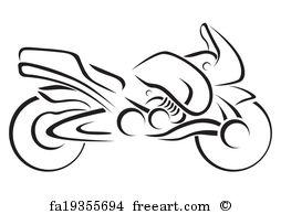 254x194 Free Art Print Of Motorcycle Vector Art. Moto Freeart Fa30906675