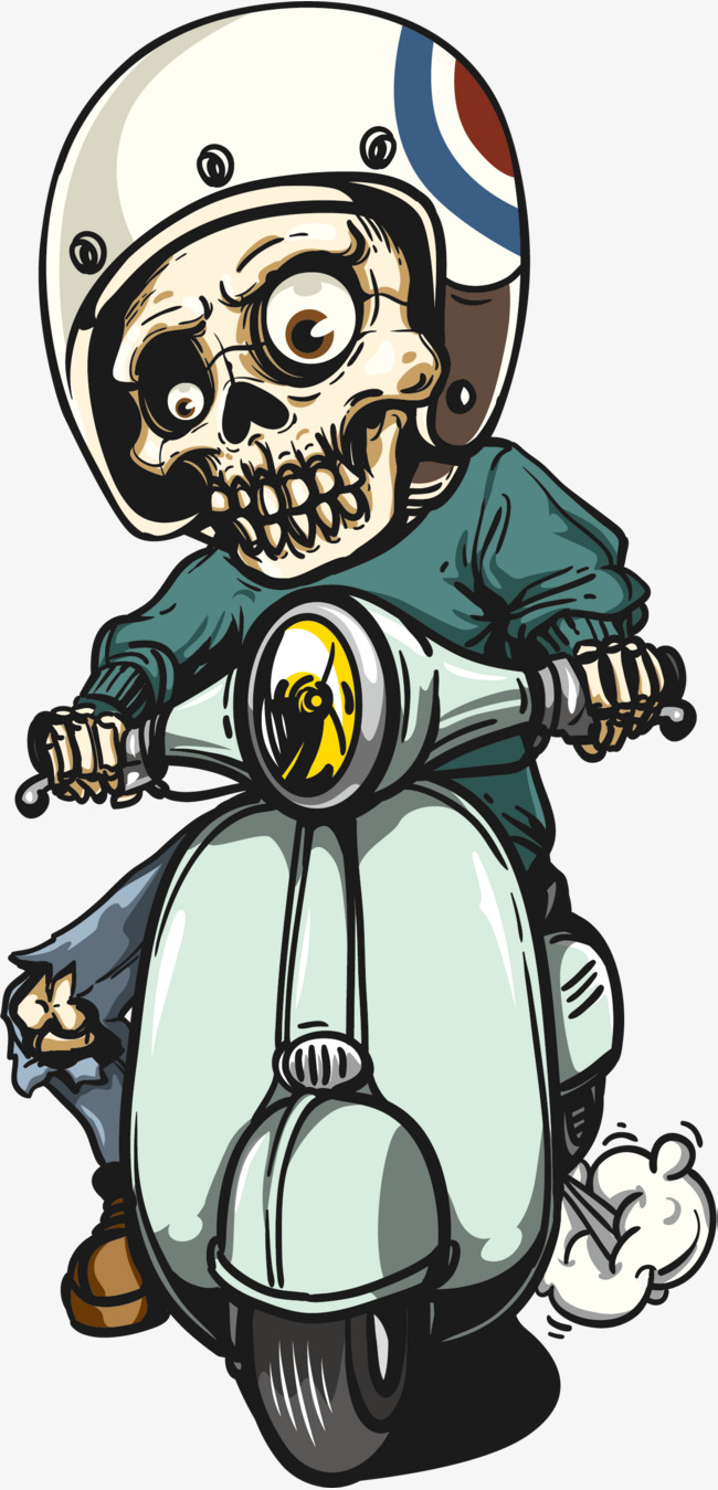 650x1349 Ride The Skeleton Of The Motorcycle, Vector Material, Skeleton Man
