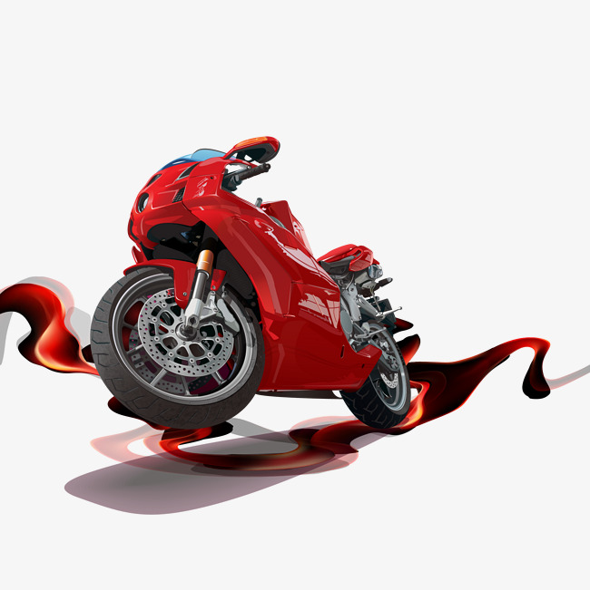 650x651 Vivid Red Motorcycle Vector, Red Motorcycle, Vector Red Motorcycle