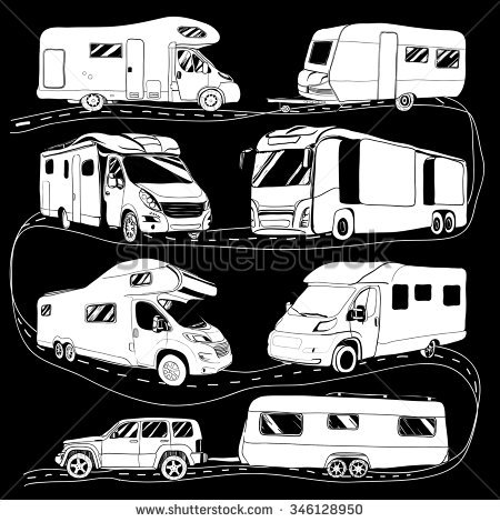 450x470 Caravan Clipart Motorhome Free Collection Download And Share
