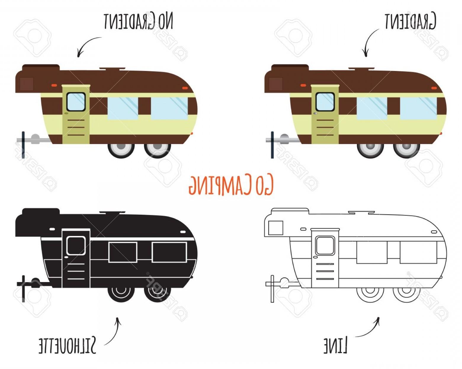 1560x1248 Photostock Vector Rv Motorhome Trailer And Caravan Park Logo Icon