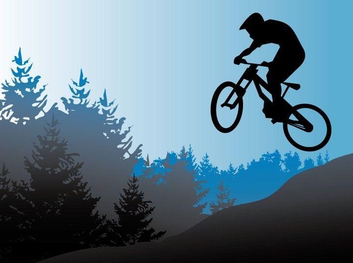 719x537 Free Vector Mountain Bike Illustration Mountain Biking Shizzle