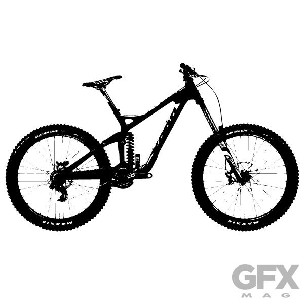 600x600 Free Vector Mountain Bike Silhouette Free Download Vector Logos