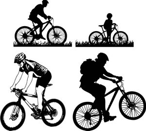 300x270 Free Download Of Mountain Bike Sticker Vector Graphics And