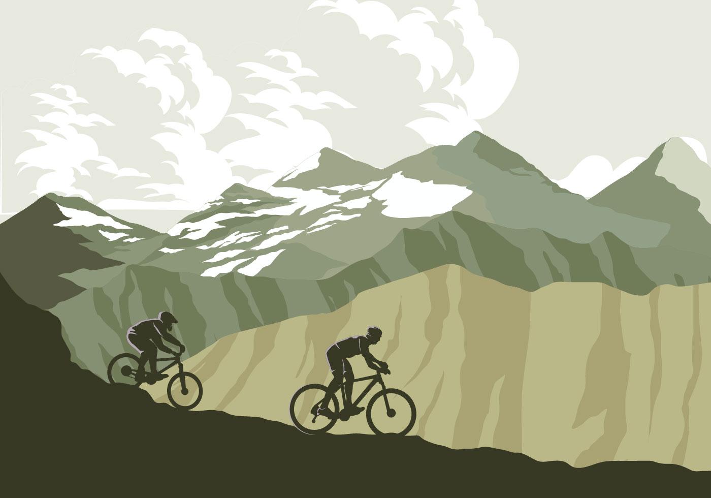 1400x980 Mountain Bike Free Vector Art