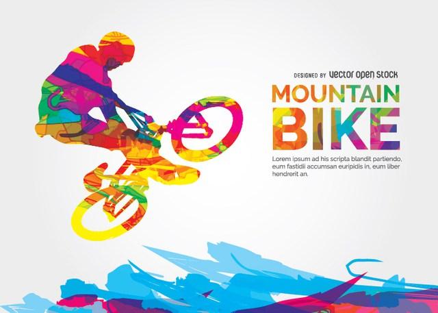 640x457 Mountain Bike Vector
