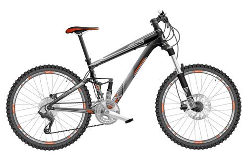 500x319 Mountain Bike Vector Design 02 Free Download