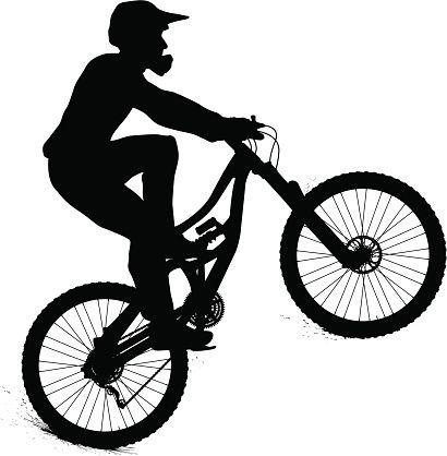 410x418 Mountain Biker Vector Art Illustration Bicycle Mtb