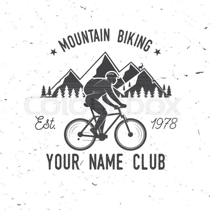 800x800 Mountain Biking. Vector Illustration. Concept For Shirt Or Logo