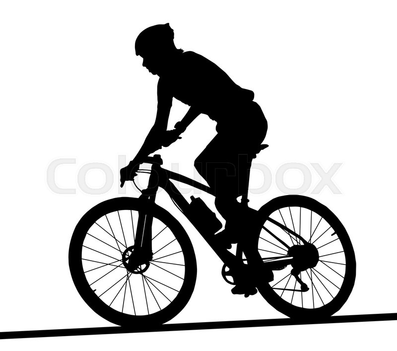 800x707 Side Profile Silhouette Of Male Mountain Bike Racer Riding Bicycle