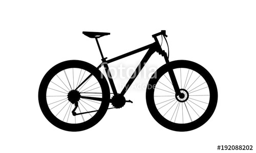 500x300 Silhouette Mountain Bike Vector Stock Image And Royalty Free