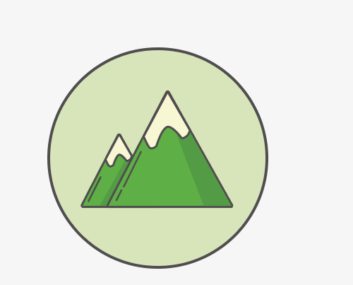 500x403 Mountain Icon, Green Icon, Vector Icon, Sign Png And Psd File For