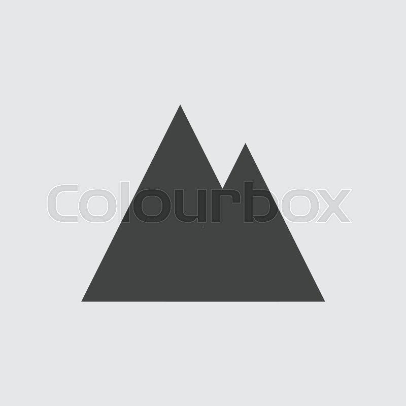 800x800 Mountain Icon, Vector Mountain Icon Eps10. Stock Vector Colourbox