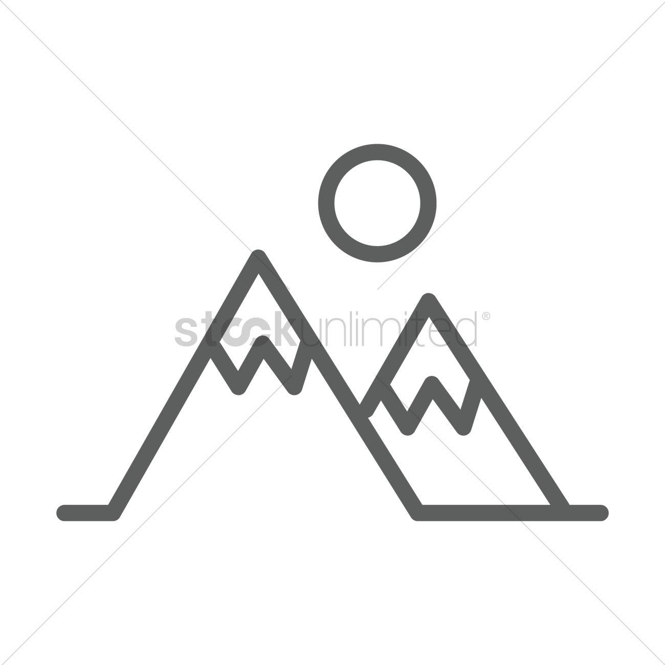 1300x1300 Mountain Icon Vector Image