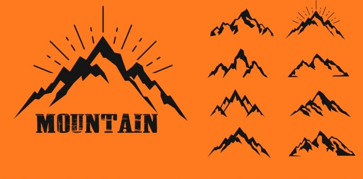 743x368 Mountain Icon Free Vector Download (23,681 Free Vector) For