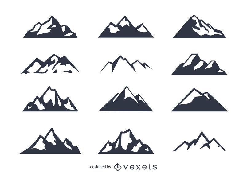 804x570 Mountain Icon Set