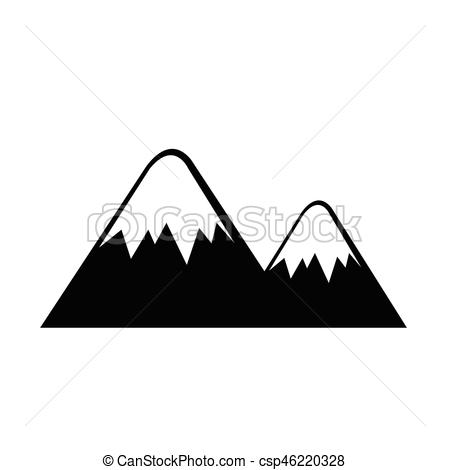 450x470 Mountain Icon Vector Illustration