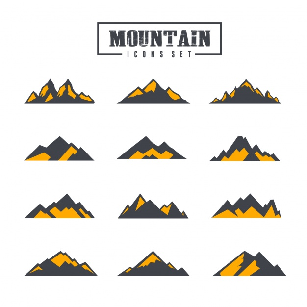 626x626 Mountain Icons Collection Vector Free Download