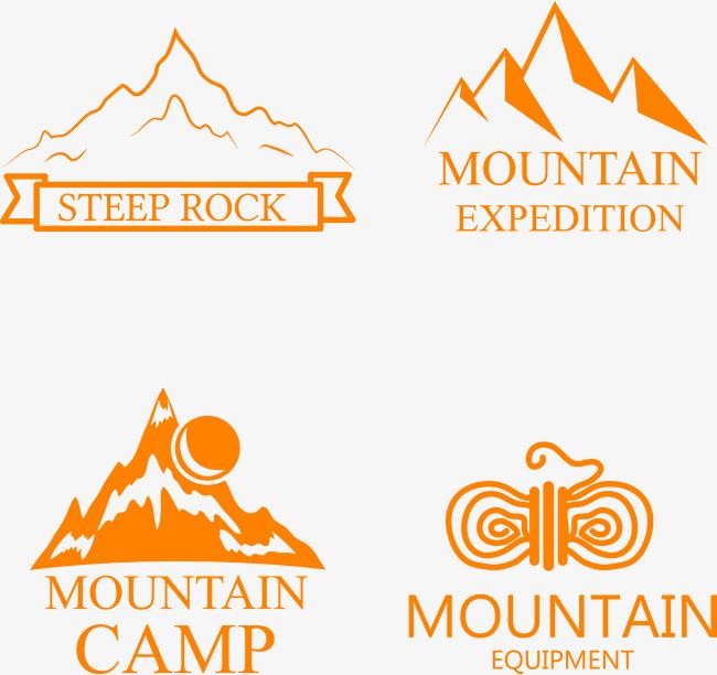 650x612 Orange Mountain Icon, Orange Vector, Mountain Vector, Icon Vector