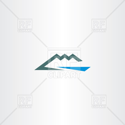 400x400 River And Mountain Icon Vector Image Vector Artwork Of Signs