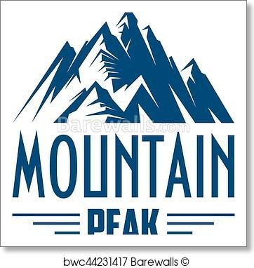 362x382 Art Print Of Mountain Peak Vector Isolated Icon Or Emblem
