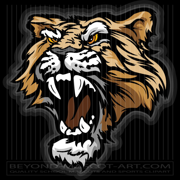 600x600 Mountain Lion Mascot Graphic Vector Mountain Lion Image