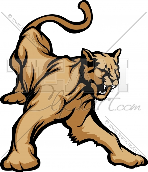 509x590 Cougar Clipart Image. Easy To Edit Vector Format.