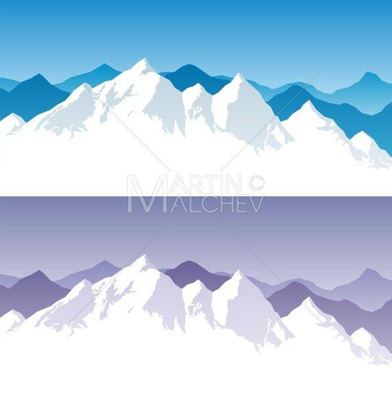 570x571 Mountain Range Vector Cartoon Clipart Illustration. Mount Etsy