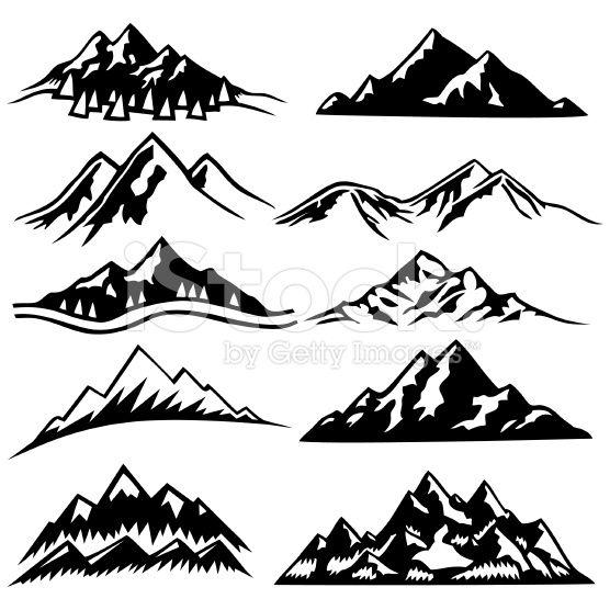556x556 Mountain Ranges Tattoo Mountain Range, Vector Art