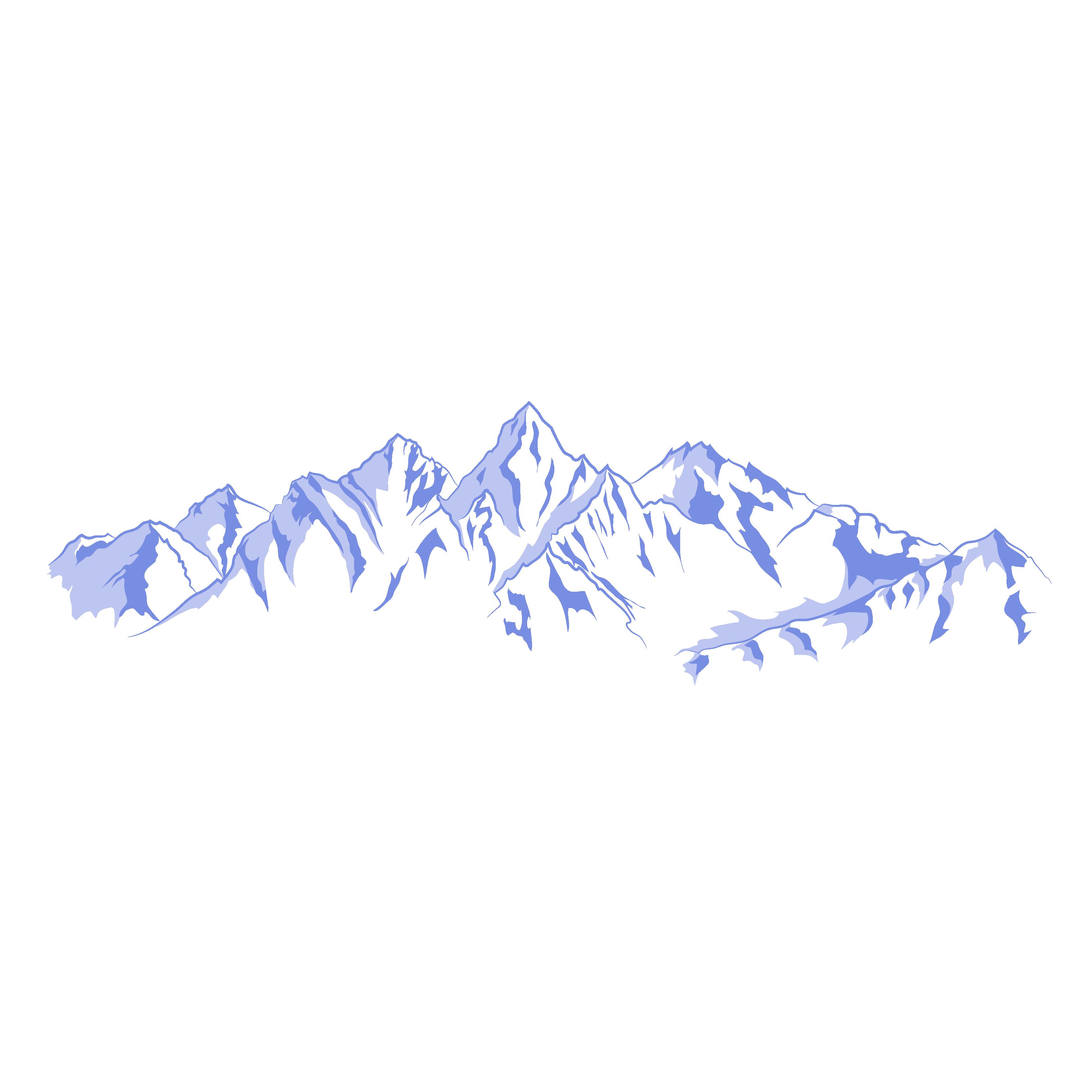 3333x3333 Mountain Range Euclidean Vector