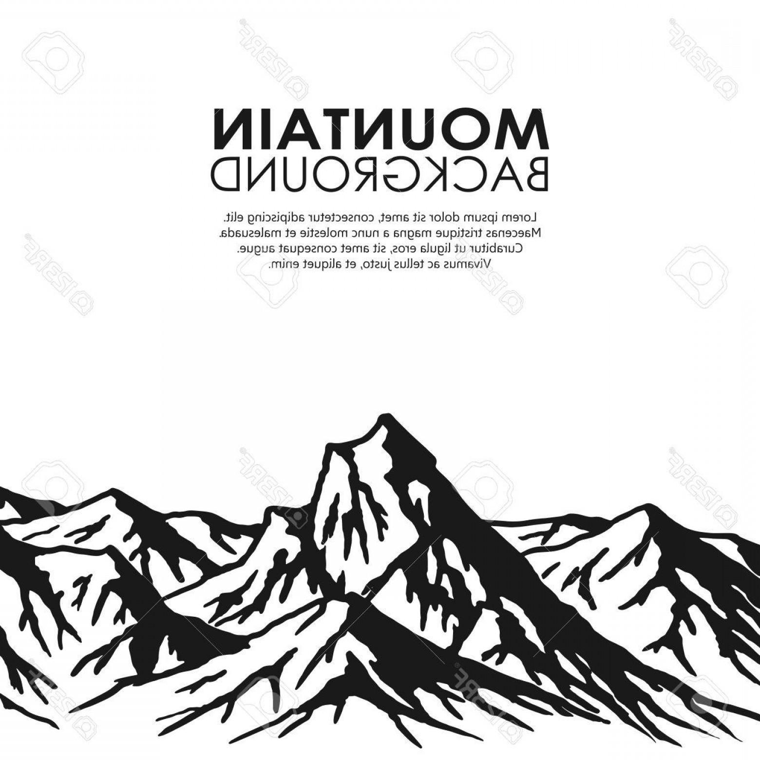 1560x1560 Photostock Vector Mountain Range Isolated On White Background