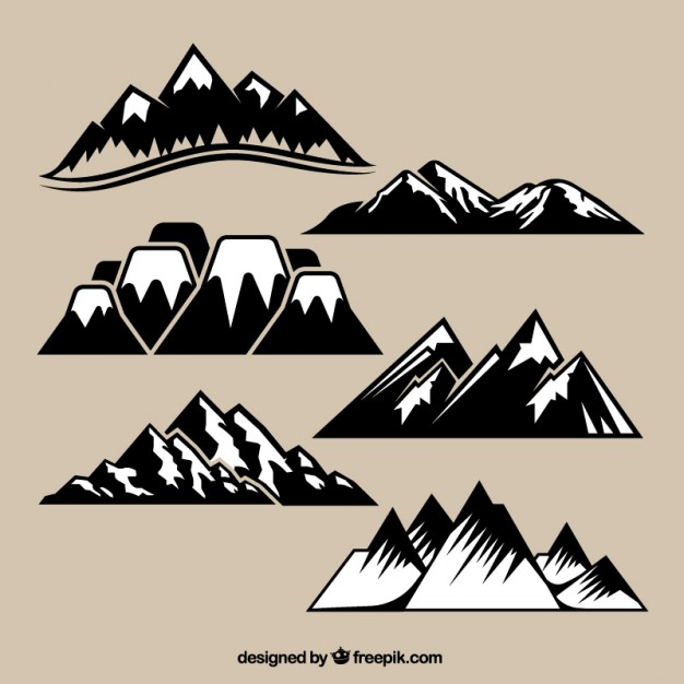 626x626 Variety Of Mountain Range Vector Free Download