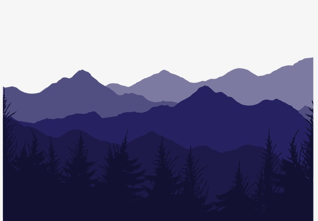 650x452 Vector Purple Mountain Landscape, Mountain Vector, Landscape